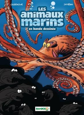Couverture Les animaux marins en bande dessinée, tome 2