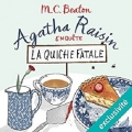 Couverture Agatha Raisin enquête, tome 01 : La Quiche fatale Editions Audiolib 2017