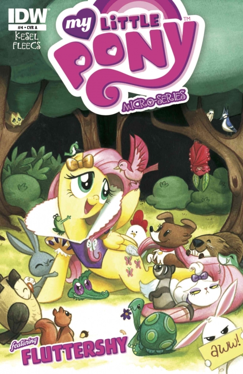 Couverture My Little Pony Micro-Series, book 04: Micro-Series Issue 4 / Fluttershy