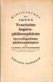 Couverture Tractatus logico-philosophicus Editions Gallimard  1961