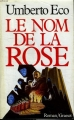 Couverture Le Nom de la rose Editions Grasset 1987