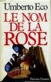 Couverture Le nom de la rose Editions Grasset 1987