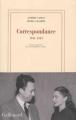 Couverture Correspondance : 1944-1959 Editions Gallimard  (Blanche) 2017