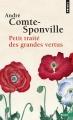 Couverture Petit traité des grandes vertus Editions Points 2014