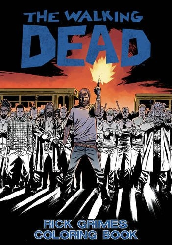 Couverture The Walking Dead: Rick Grimes Adult Coloring Book