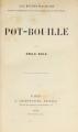 Couverture Pot-bouille Editions Charpentier 1882