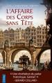 Couverture Victor Dauterive, tome 1 : L'affaire des corps sans tête Editions City 2017