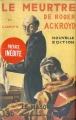 Couverture Le meurtre de Roger Ackroyd Editions Le Masque 1926