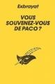 Couverture Vous souvenez-vous de Paco ? Editions Le Masque 1958