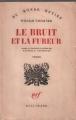 Couverture Le bruit et la fureur Editions Gallimard  1949