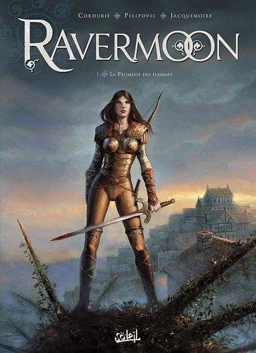 Couverture Ravermoon, tome 1 : La promesse des flammes