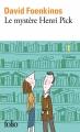 Couverture Le mystère Henri Pick Editions Folio  2018