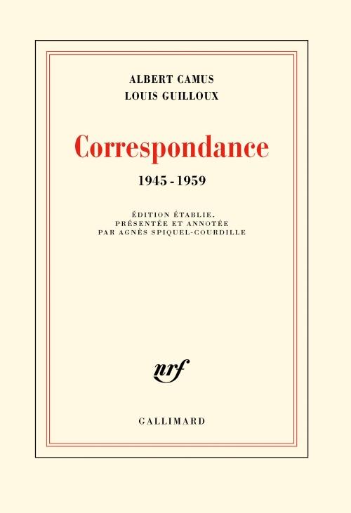 Couverture Correspondance 1945-1959