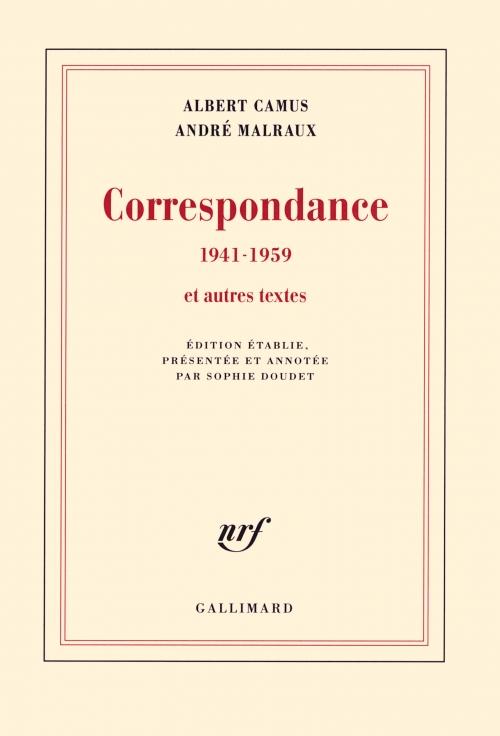Couverture Correspondance 1941-1959 et autres textes