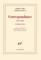 Couverture Correspondance 1941-1959 et autres textes Editions Gallimard  (Blanche) 2016