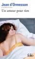 Couverture Un amour pour rien Editions Folio  (Plus classiques) 1960