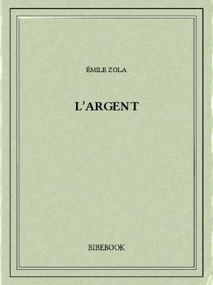 Couverture L'Argent