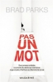 Couverture Pas un mot Editions Mazarine 2017