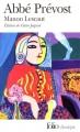 Couverture Histoire du chevalier Des Grieux et de Manon Lescaut / Manon Lescaut Editions Folio  (Classique) 2001