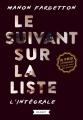 Couverture Le Suivant sur la liste, intégrale Editions Rageot (Thriller) 2017
