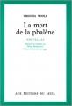 Couverture La mort de la phalène Editions Seuil 1968