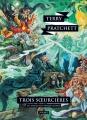 Couverture Les Annales du Disque-Monde, tome 06 : Trois soeurcières Editions L'Atalante (La Dentelle du cygne) 2015