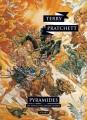 Couverture Les Annales du Disque-Monde, tome 07 : Pyramides Editions L'Atalante (La Dentelle du cygne) 2015
