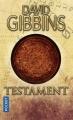 Couverture Testament Editions Pocket 2018