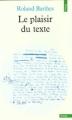 Couverture Le plaisir du texte Editions Points 1982