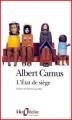 Couverture L'état de siège Editions Folio  (Théâtre) 1998