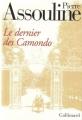 Couverture Le dernier des Camondo Editions Gallimard  1997