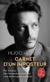 Couverture Carnet d'un imposteur Editions Le Livre de Poche 2018