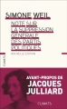 Couverture Note sur la suppression générale des partis politiques Editions Flammarion (Climats) 2017