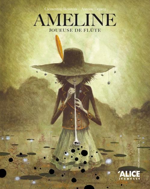 Couverture Ameline : Joueuse de flûte