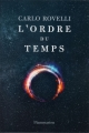 Couverture L'ordre du temps Editions Flammarion 2018
