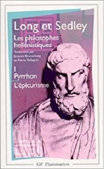 Couverture Les philosophes hellénistiques, tome 1 : Pyrrhon, L'épicurisme