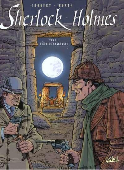 Couverture Sherlock Holmes (Soleil), tome 1 : L'étoile sanglante