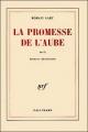 Couverture La Promesse de l'aube Editions Gallimard  1980