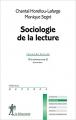 Couverture Sociologie de la lecture Editions La découverte (Repères) 2016