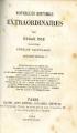 Couverture Nouvelles histoires extraordinaires Editions Michel Levy 1862