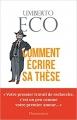 Couverture Comment écrire sa thèse Editions Flammarion (Essais) 2016