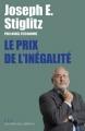 Couverture Le prix de l'inégalite Editions Les Liens qui Libèrent 2012