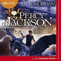 Couverture Percy Jackson, tome 3 : Le Sort du titan Editions Audiolib 2018