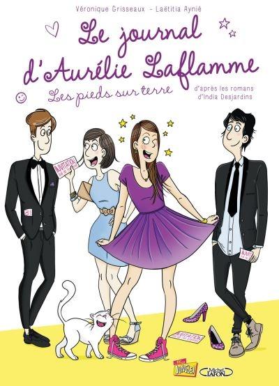 Couverture Le journal d'Aurélie Laflamme (BD), tome 5 : Les pieds sur terre