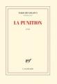 Couverture La punition Editions Gallimard  2018