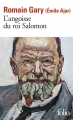 Couverture L'angoisse du roi Salomon Editions Folio  2017