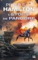Couverture L'étoile de Pandore, tome 2 : Pandore menacée Editions Bragelonne (SF) 2018