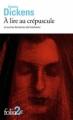 Couverture À lire au crépuscule et autres histoires de fantômes Editions Folio  2018