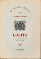 Couverture Lolita Editions Gallimard  1959