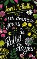 Couverture Les derniers jours de Rabbit Hayes Editions Gabelire 2017